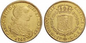 8 escudos Sevilla, 1762
