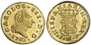 Medio Escudo Madrid 1760