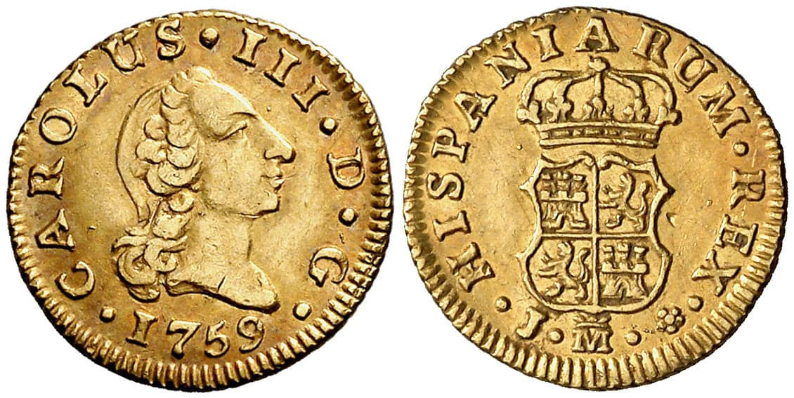 medio Escudo Madrid 1759