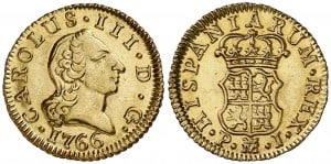 medio Escudo Madrid 1766