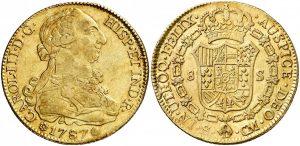 8 escudos Sevilla, 1787