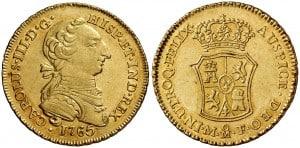 2 Escudos México 1765