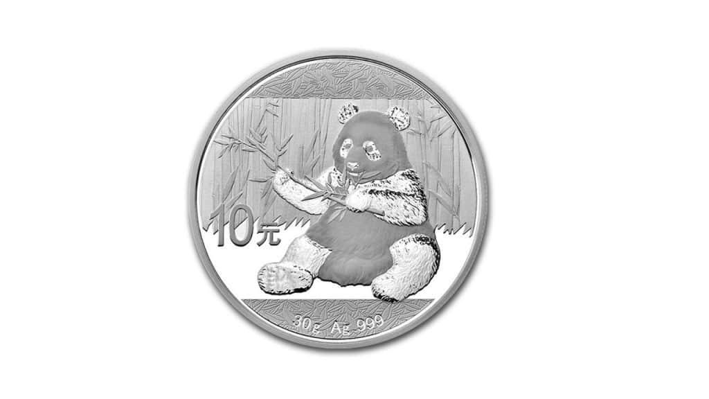Bullion de plata panda coloreado