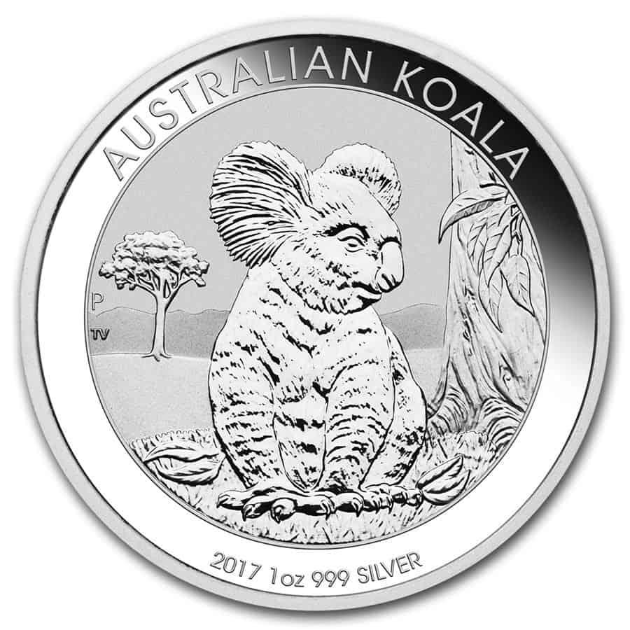 Moneda Koala plata