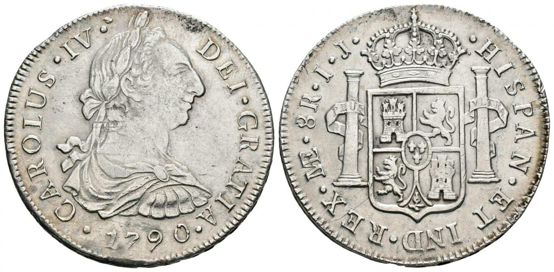 Carlos IV, 8-reales. 1790. Lima.