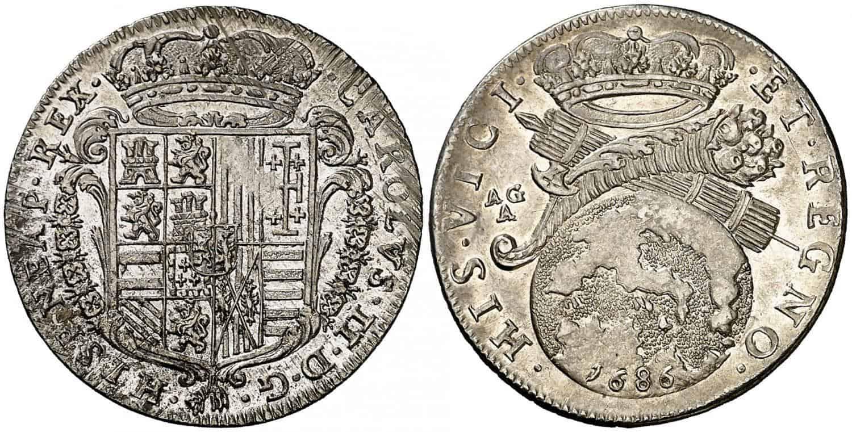 Carlos II, Nápoles. 1686.
