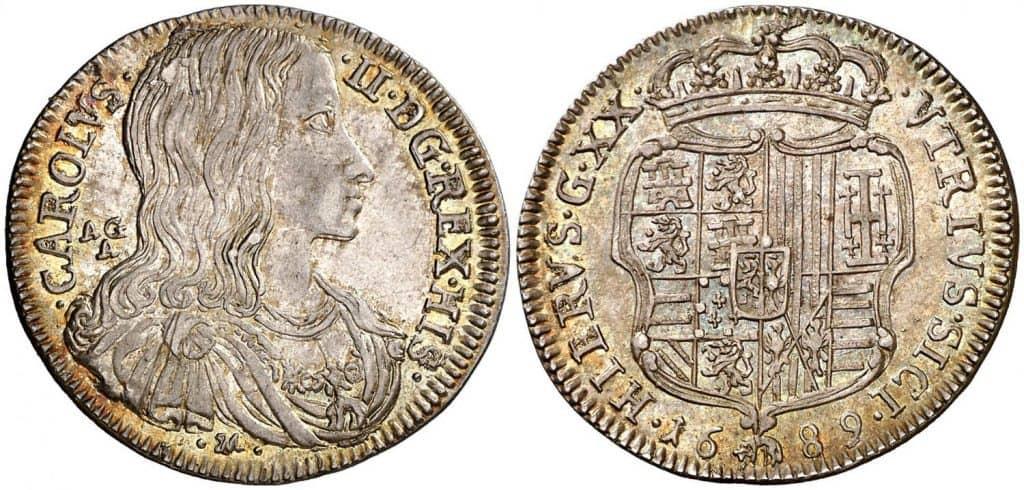 Carlos II, Nápoles. 1689.