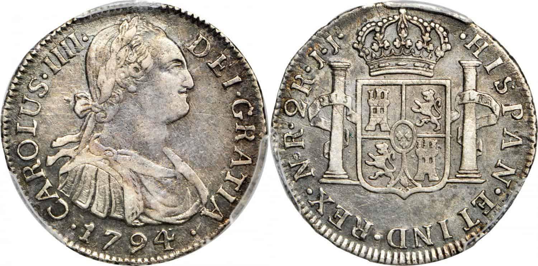 2 Reales de Carlos IV