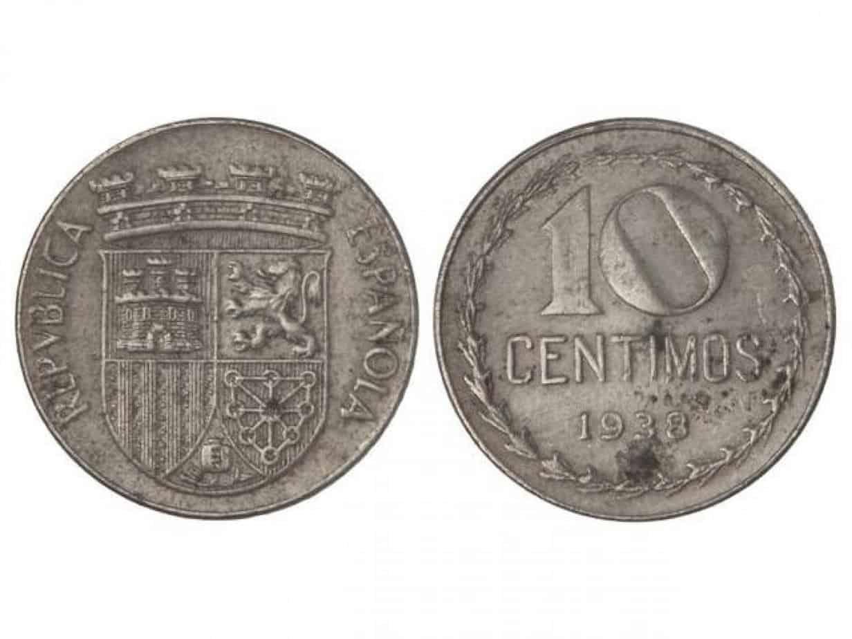 10 Céntimos. 1938. II Repûblica
