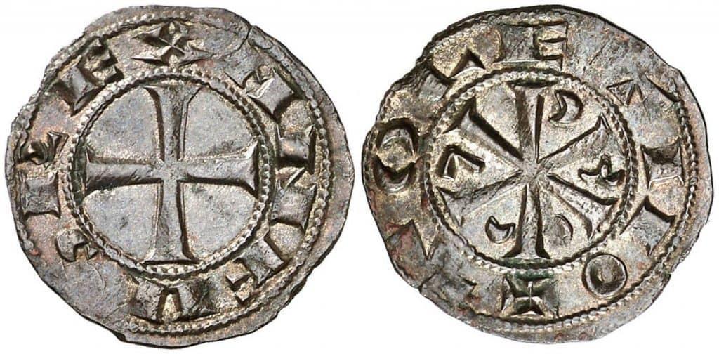 Dinero. Alfonso VI. Toledo.