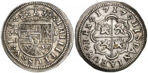 1 real. Felipe V. Madrid. 1717.