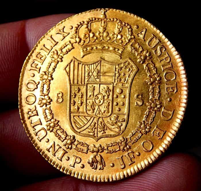 España - Carlos IV - Doblón de 8 Escudos 1792 Popayán