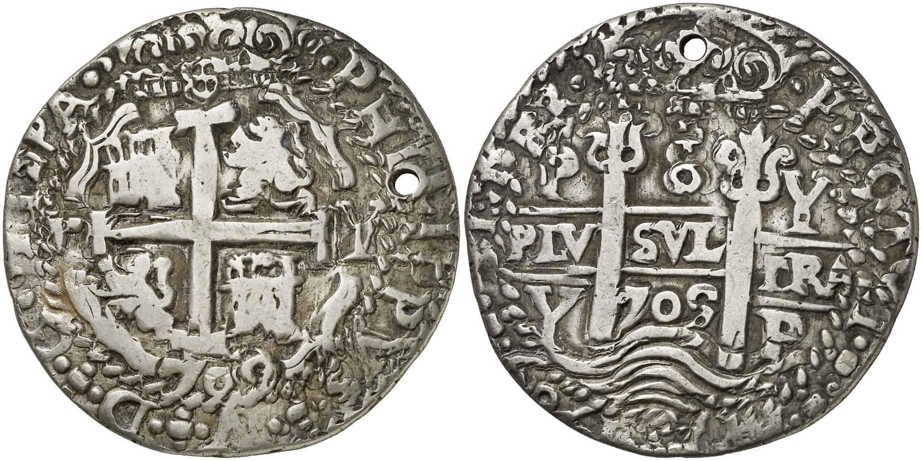 Figura3: 1709. Potosí. Y. 8 reales