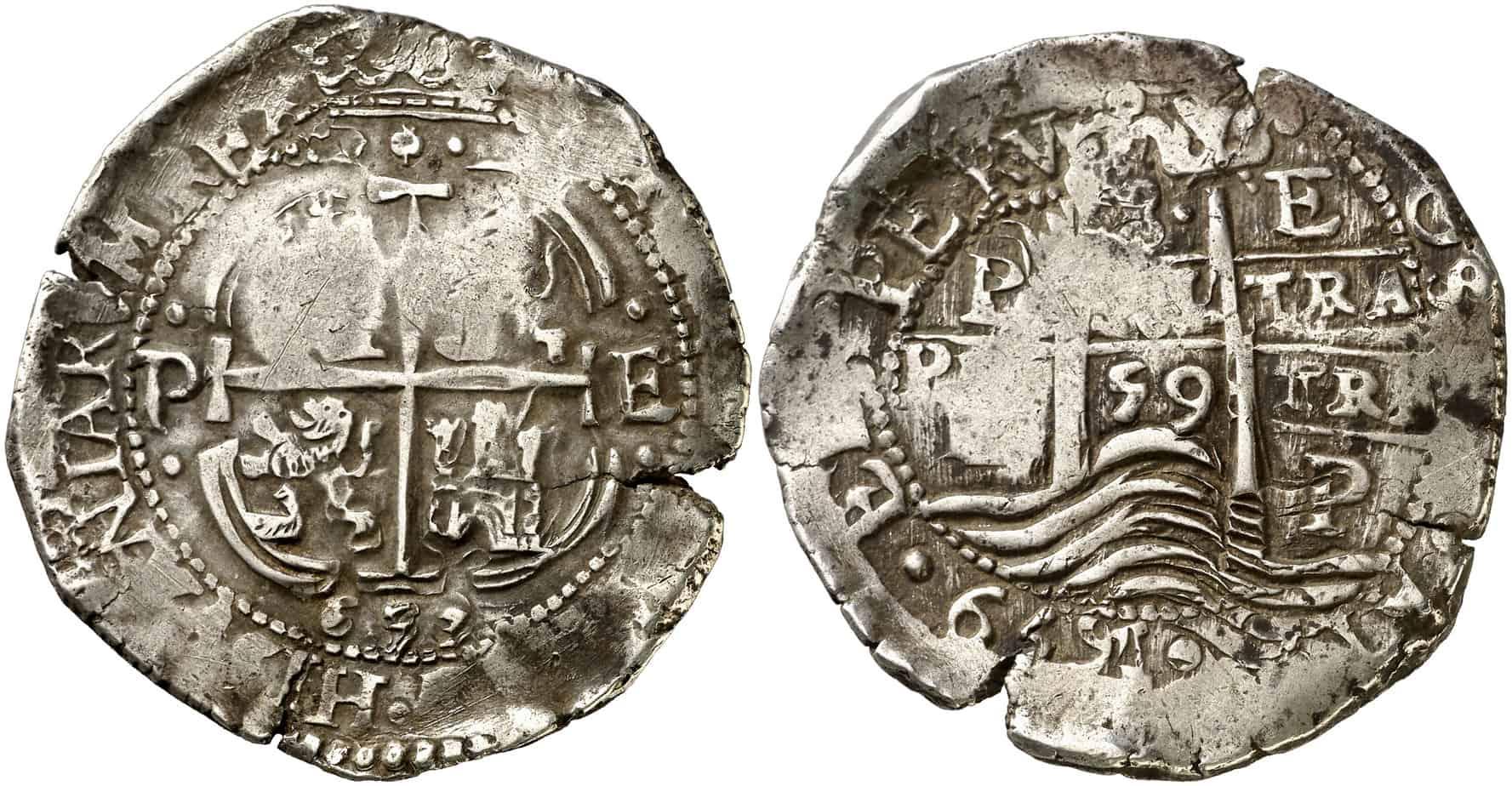Figura 8: 1659. Potosí. E. 8 reales.