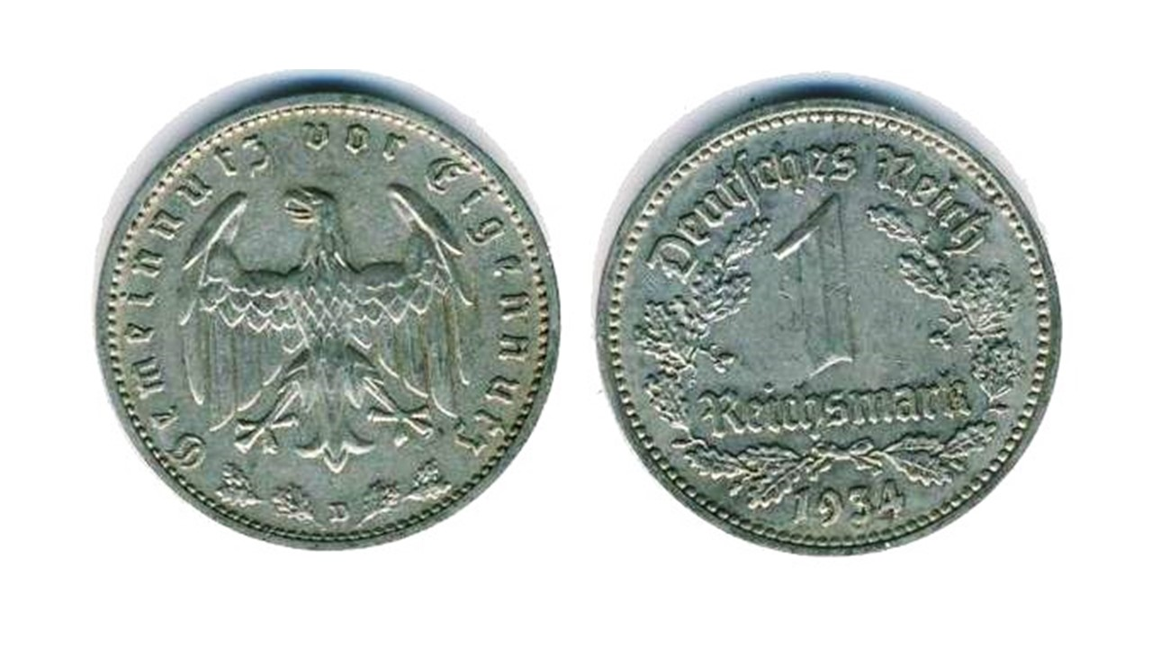 Fig. 5. Variante Moneda de 1 Reichsmark