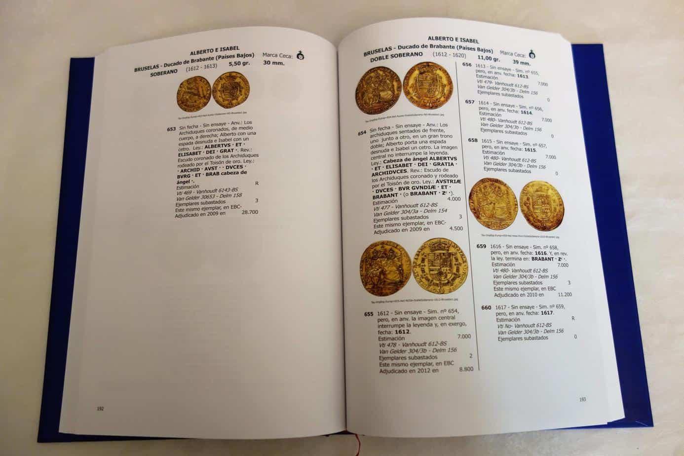 catálogo monedas de oro