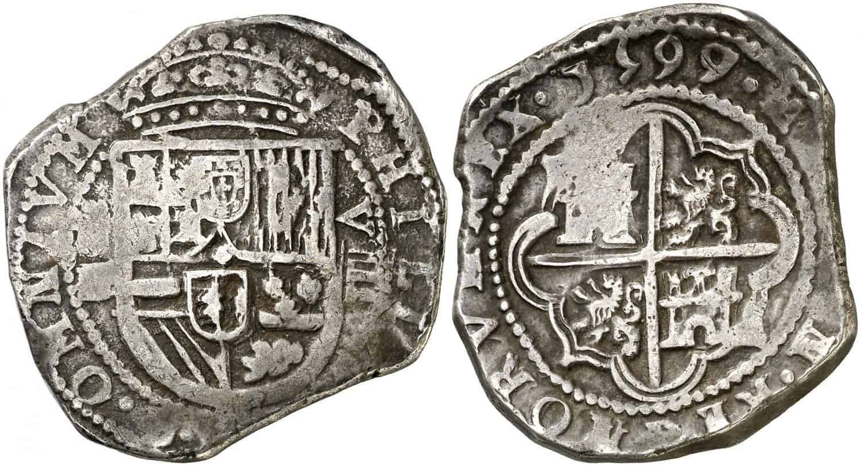 8 reales. Felipe III. 1599. Segovia. Castillejo.
