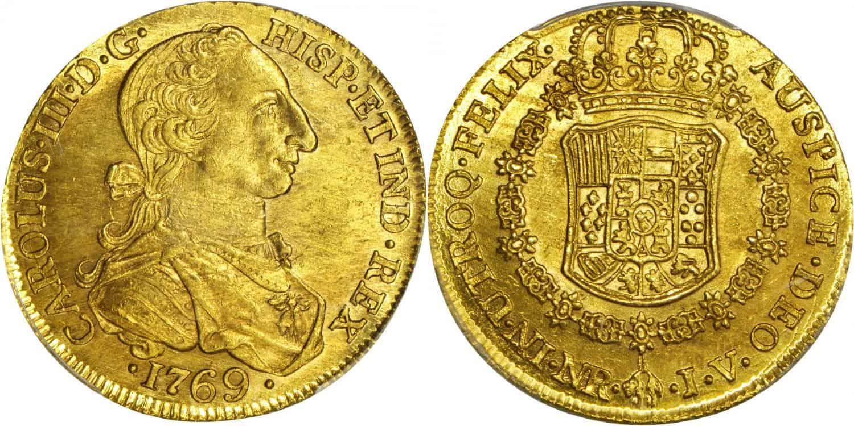 8 escudos Santa Fe 1769