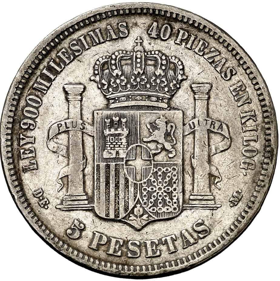 Distinguir 5 pesetas auténticas y falsas por su peso