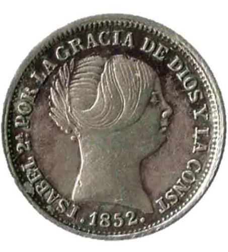 1 Real de plata, Isabel II, 1852, Sevilla - España
