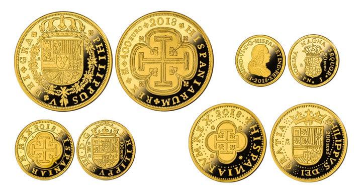 Colección de la FNMT que conmemora los 150 años de la desaparición de los escudos