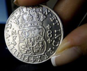 8 reales 1741 México, Falsa