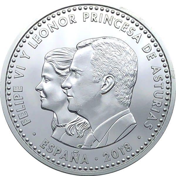 30 euros conmemorativa del 1300 aniversario del Reino de Asturias, FNMT