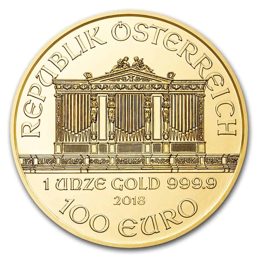 Moneda de Oro Filarmónica de Austria 2018 1 oz