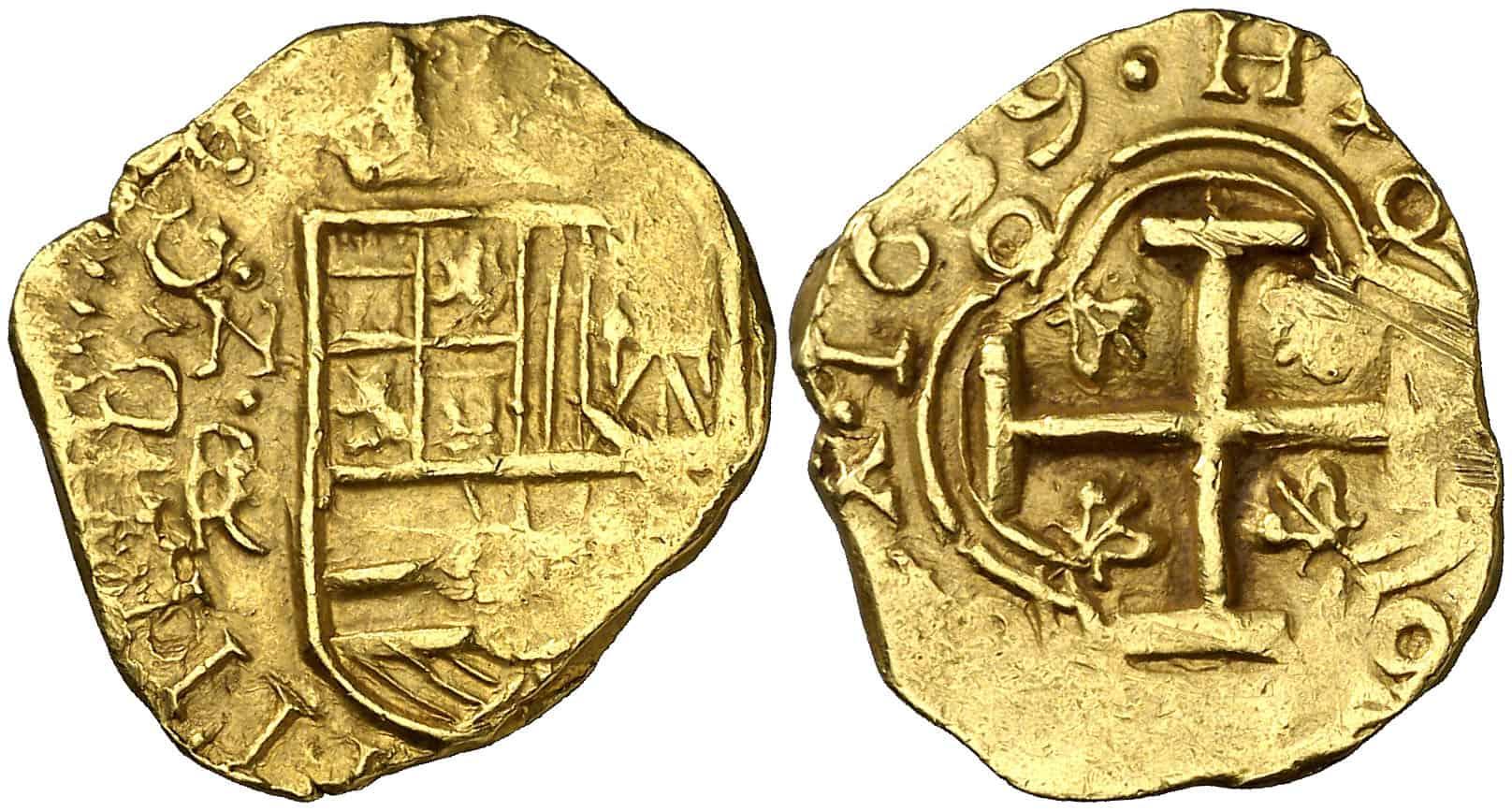 2 escudos Santa Fe 1639