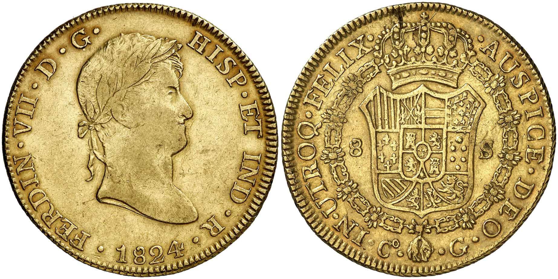 8 escudos Cuzco 1824