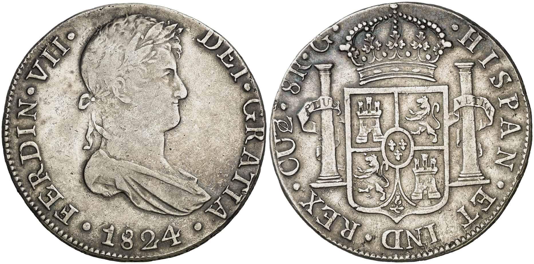 8 reales Cuzco 1824 G