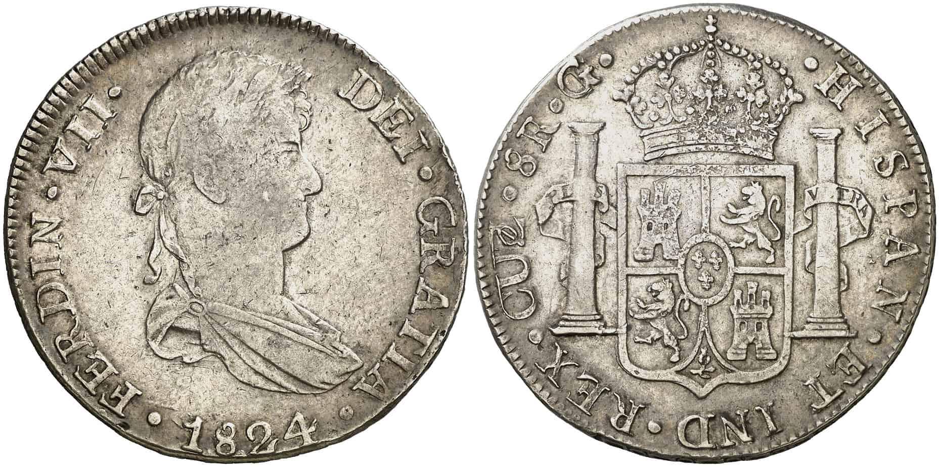 8 reales Cuzco 1824 G sobre T