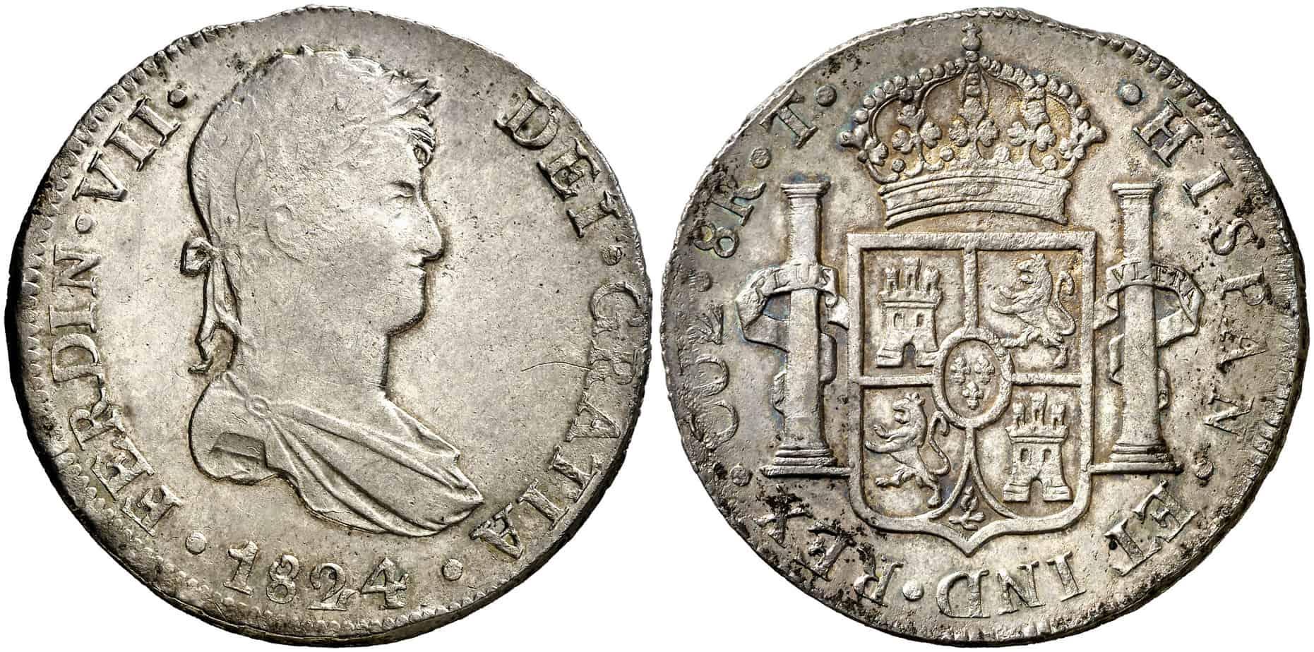 8 reales Cuzco 1824 T
