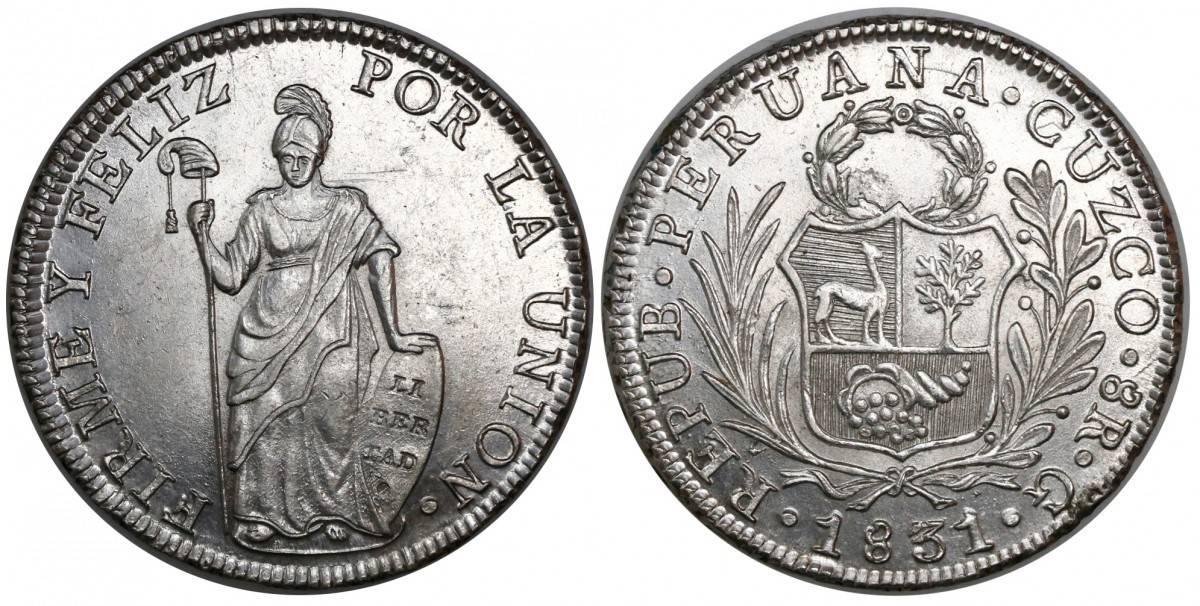 8 reales Cuzco 1831
