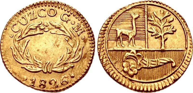 medio escudo Cuzco 1826