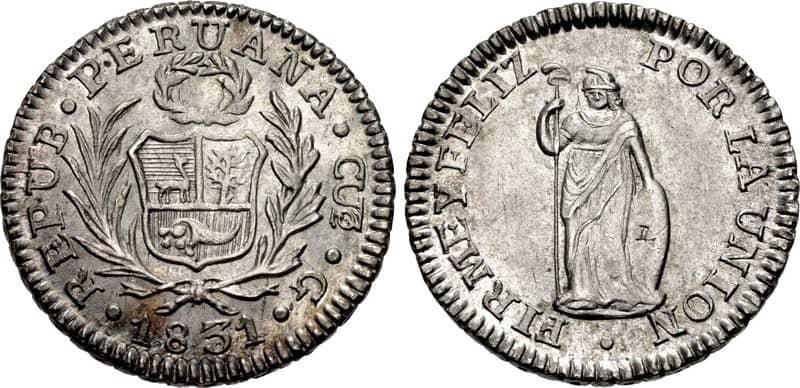 medio real Cuzco 1831