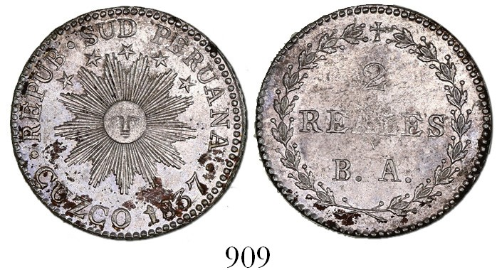 2 reales Cuzco 1837
