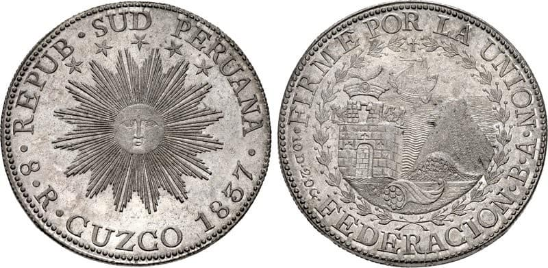 8 reales Cuzco 1837