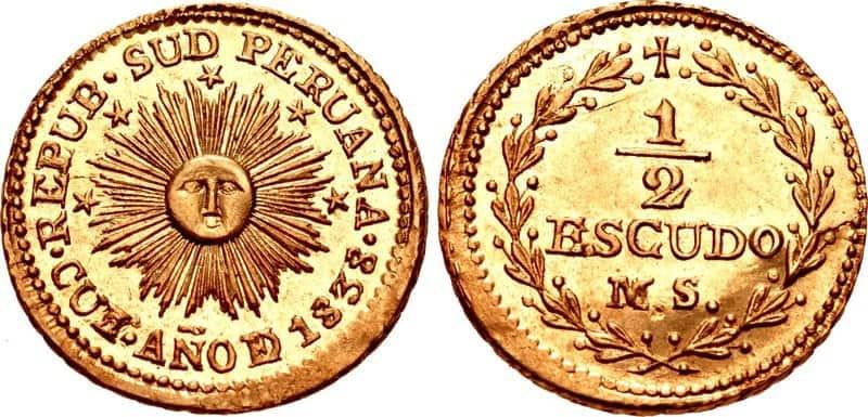 medio escudo Cuzco 1838