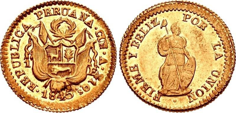 escudo Cuzco 1845