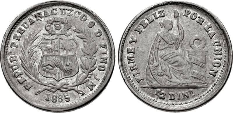 medio Dinero Cuzco1885