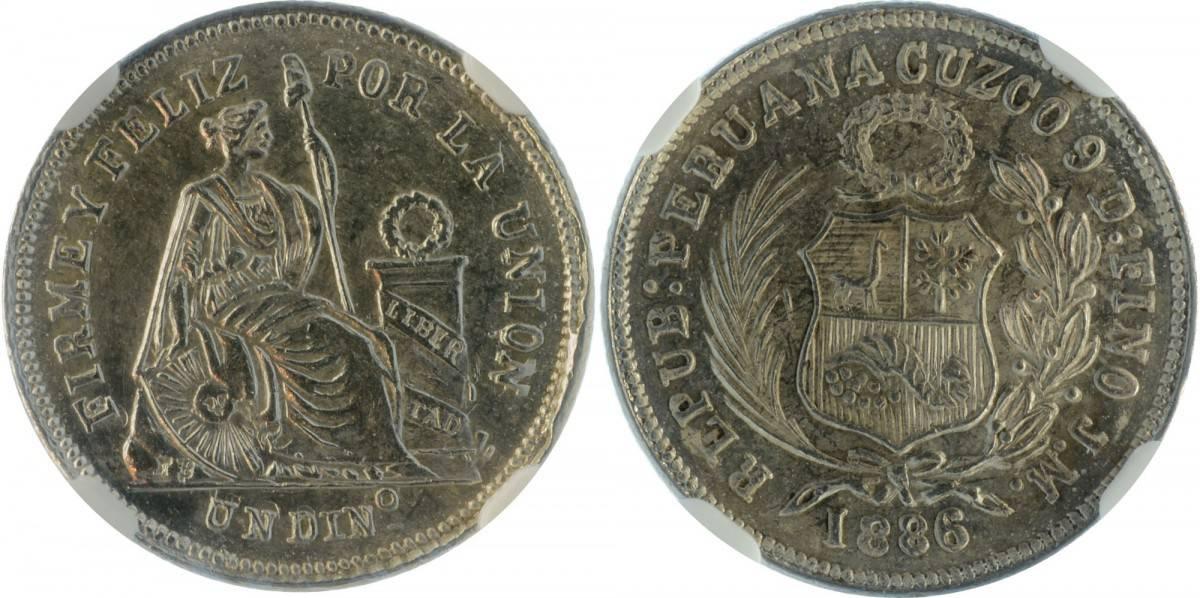 dinero Cuzco 1886