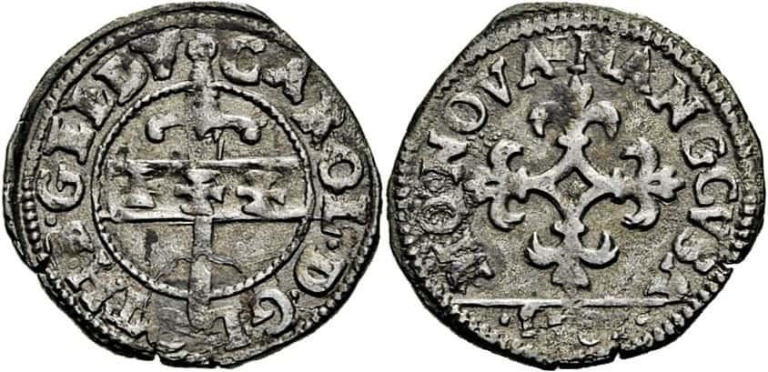 Liard de tres dineros, Nancy (Francia), 1581
