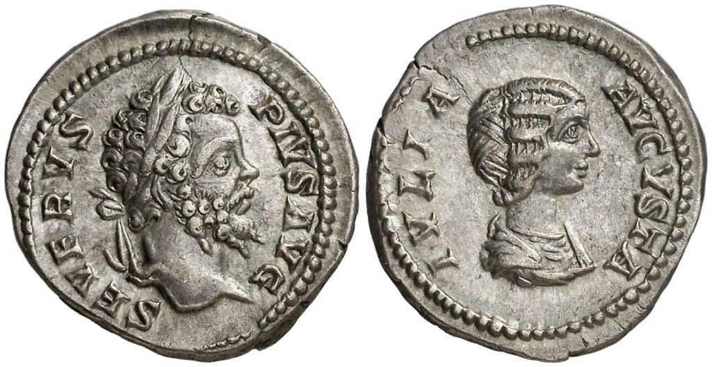 Septimio con su mujer
