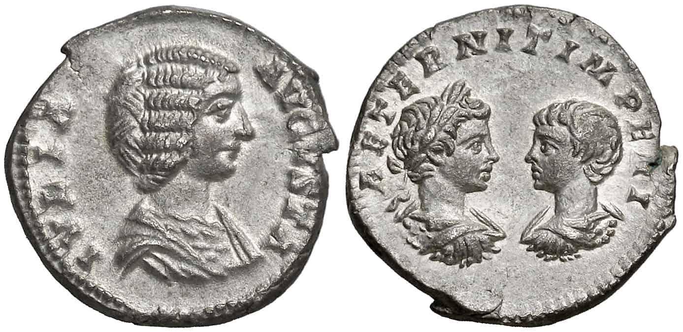Julia Domna con Geta y Caracalla