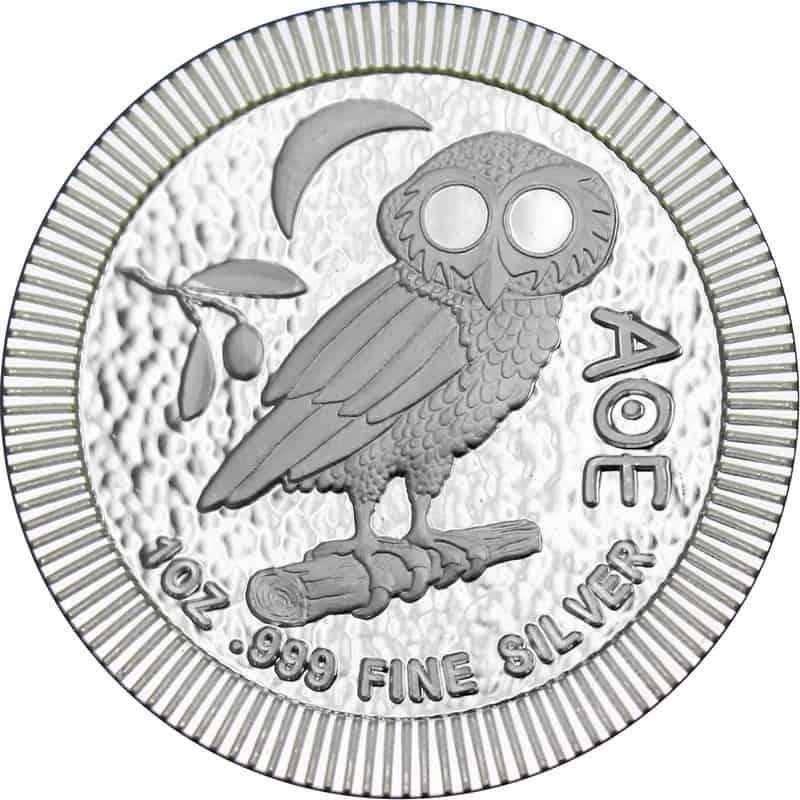Moneda plata niue búho ateniense, 2018, 1oz