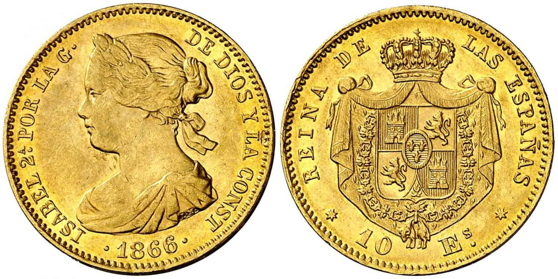 10 escudos sevillanos 1866/5