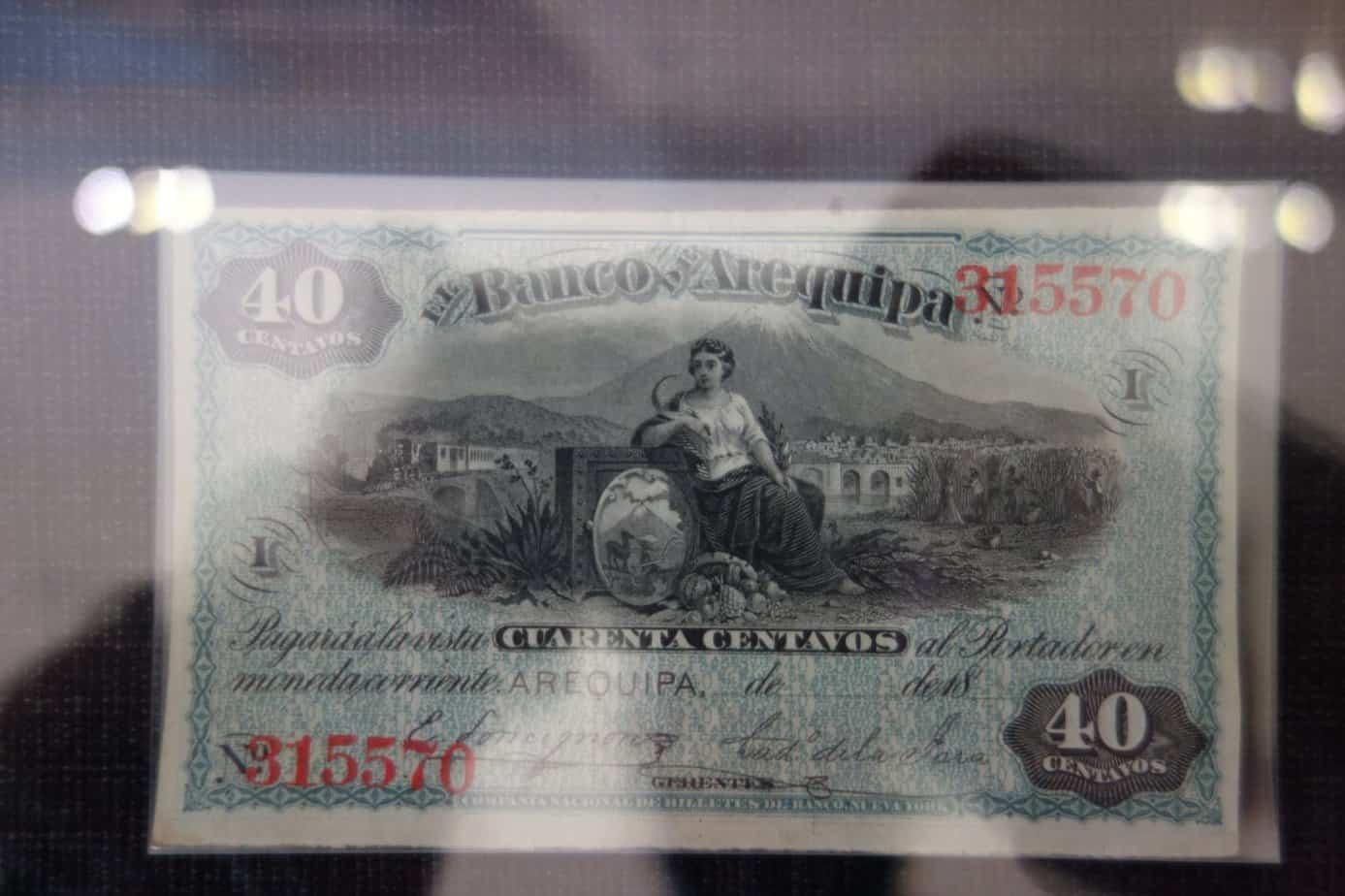 Billete Banco de Arequipa