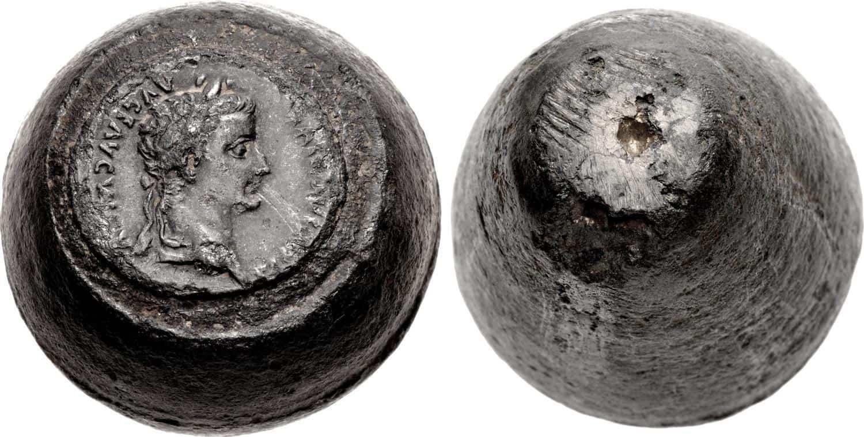 Cuño de denario de Tiberio