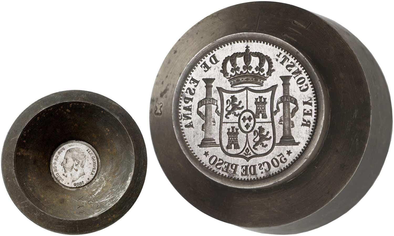 Cuño de 50 centavos 1880 Manila